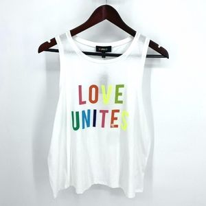 NWT Love Unites Express Pride Graphic Tank Crop